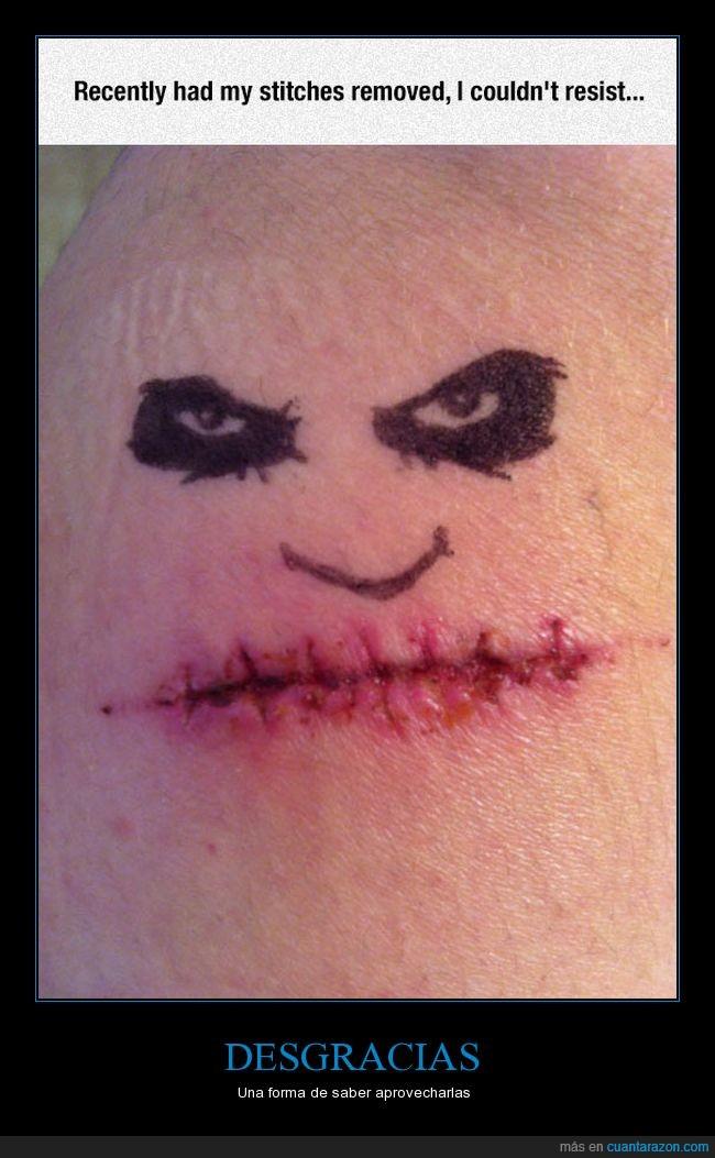 cara,cicatriz,joker,pintar