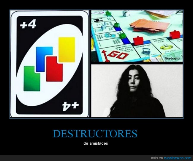 juegos,monopoly,uno,yoko ono