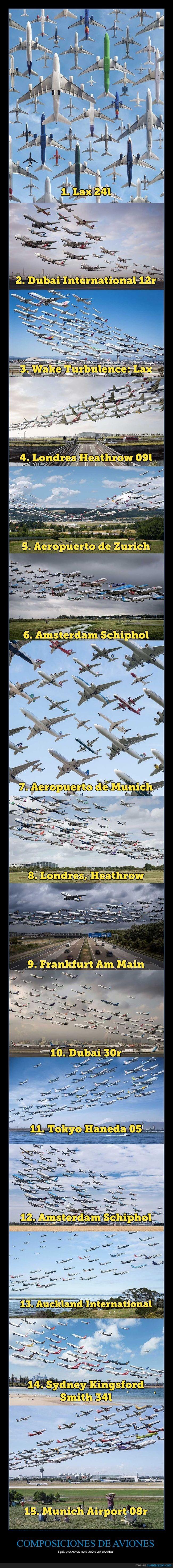 aeropuertos,aviones,composición