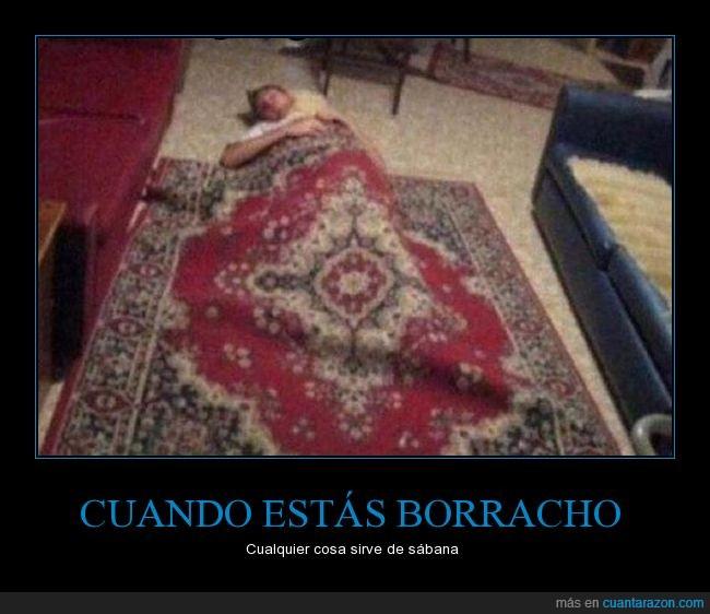 alfombra,borracho,dormir,sabana,sala