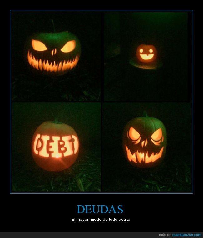calabaza,deuda,halloween,temor verdadero