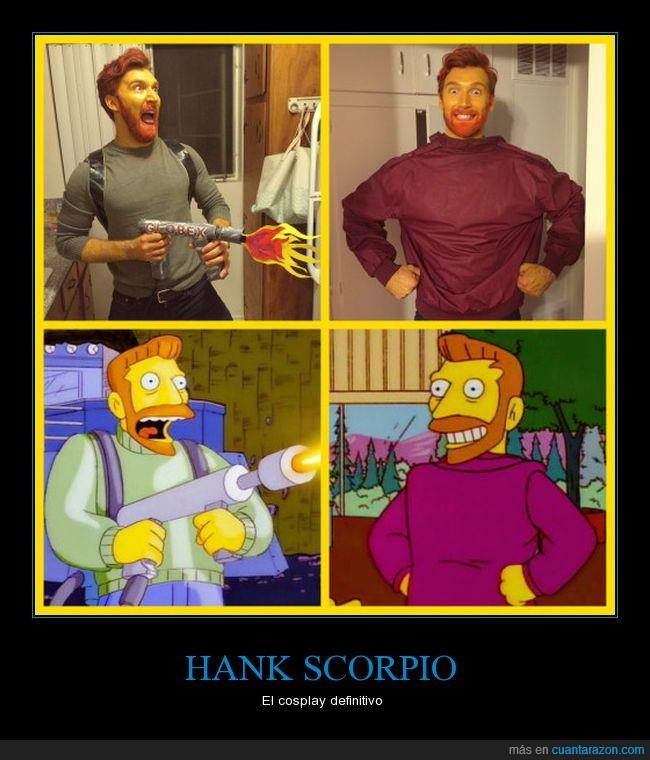 cosplay,hank scorpio,simpson