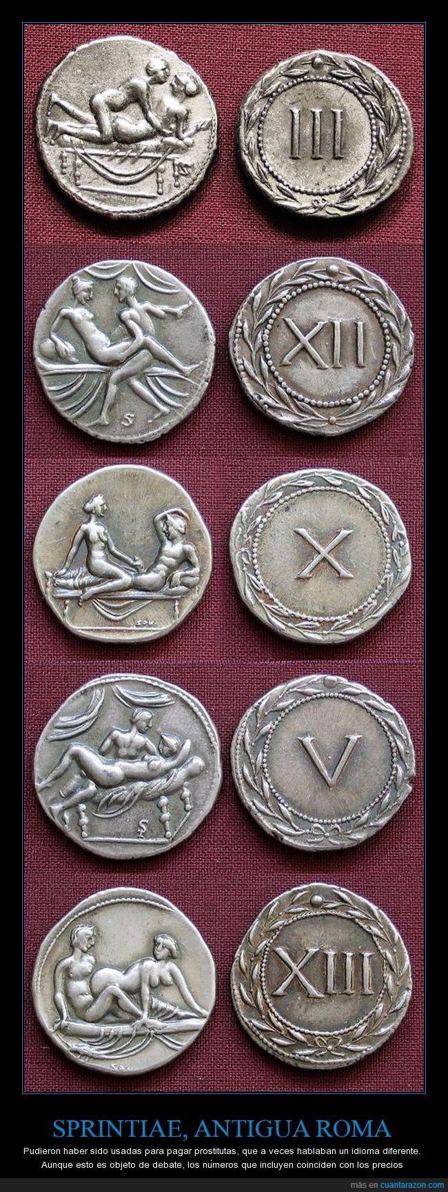 antigua roma,cambio,monedas,sprintiae