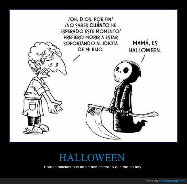 disfraz,halloween,hijo,mama,muerte