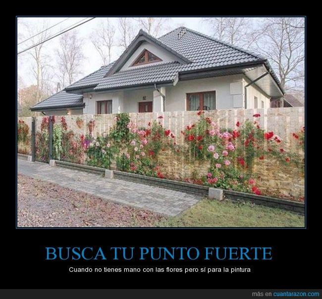 casa,cerca,decoración,flores,valla,verja