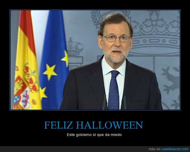 españa,esto es horrible,gobierno,halloween,pp,rajoy