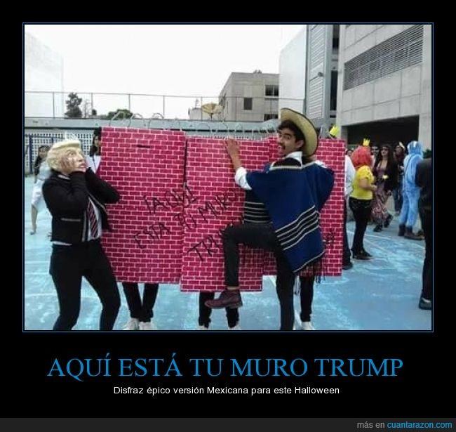 disfrazh,donald trump,halloween,mexicanos,muro