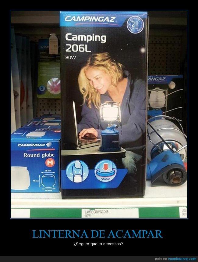 acampar,fail,laptop,Linterna,portátil