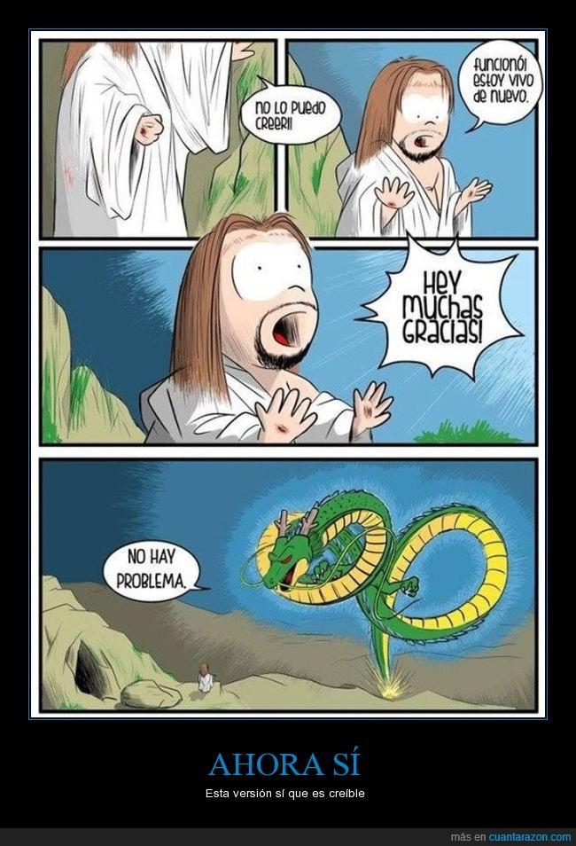 bolas de dragon,jesús,resucitar