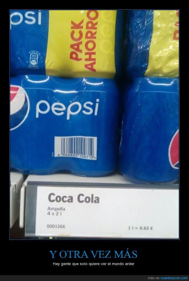 Cocacola,Los del supermercado se lo curraron,Pepsi,Super,Supermercado