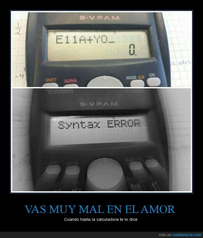 amor,Calculadora,mal