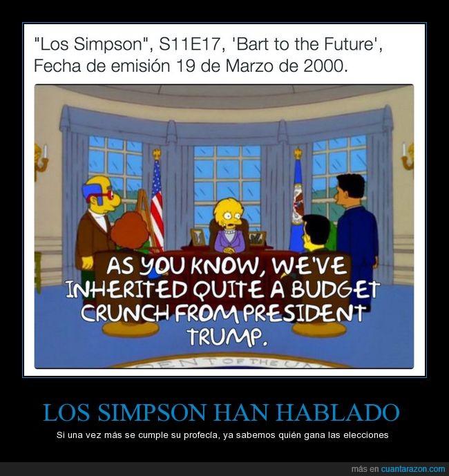 eeuu,elecciones,futuro,predecir,simpson,trump,usa