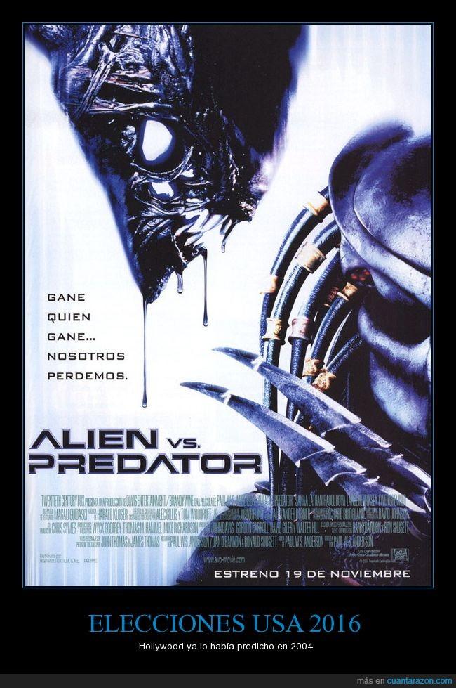 alien vs depredador,elecciones,Estados Unidos
