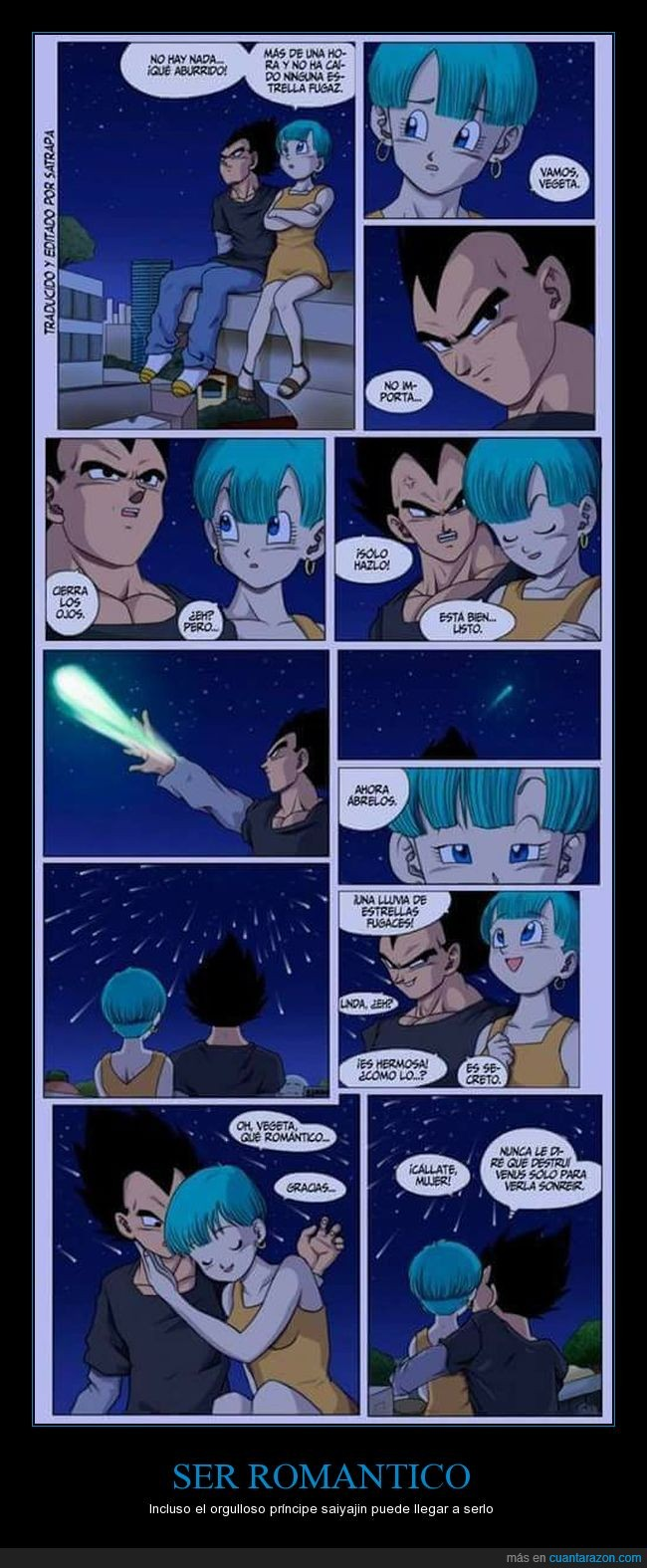 amor,bulma,dragon ball,estrellas,vegeta