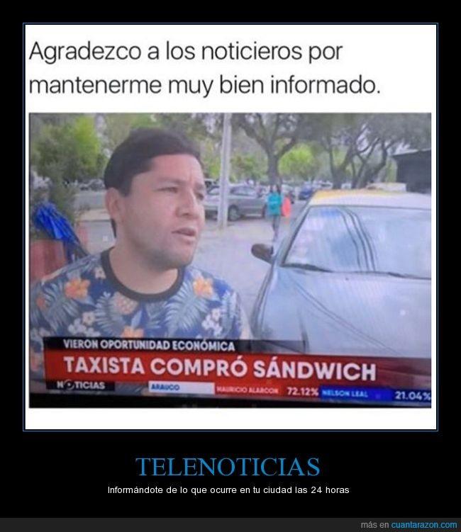 comer,noticias,sandwich,taxista