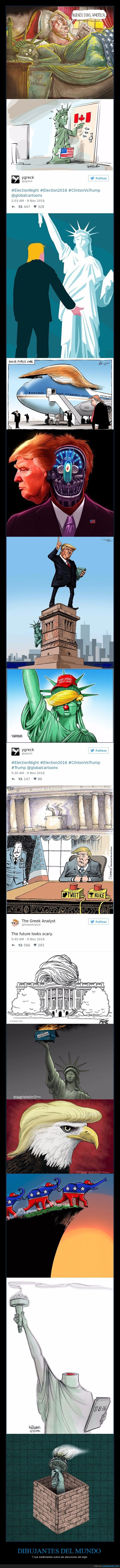 caricaturas,eeuu,elecciones,usa,votantes