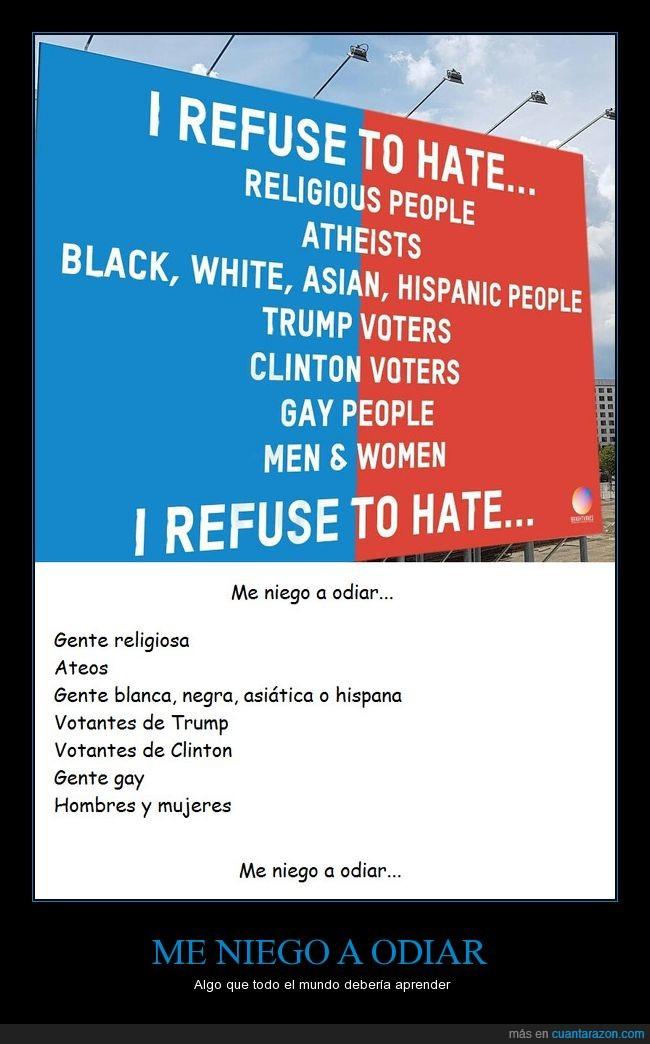 aprender,cartel,negarse,odio,respeto