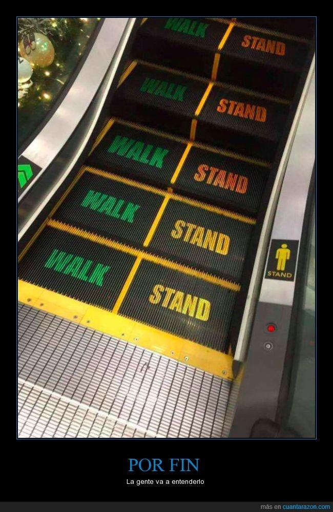 andar,escaleras mecánicas,esperarse