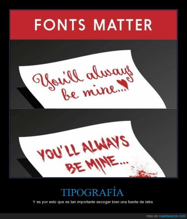 fuentes,letras,significado,tipografías