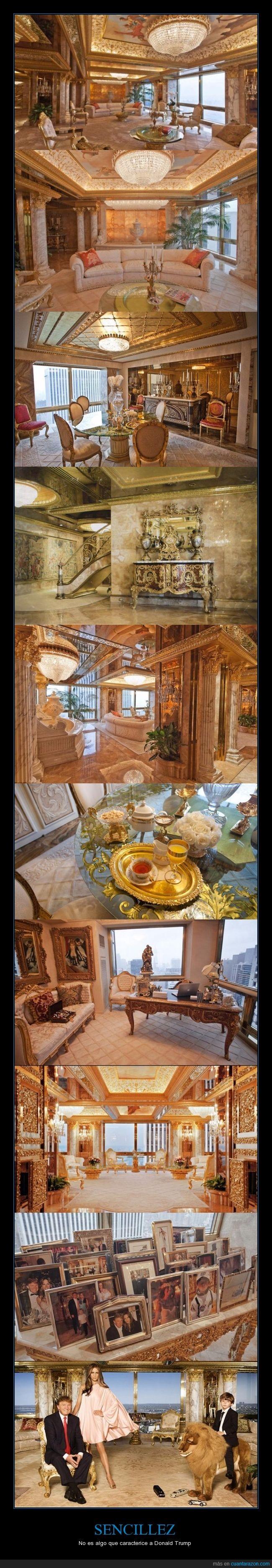 casa en nyc,espejos,hortera,mansión,oro