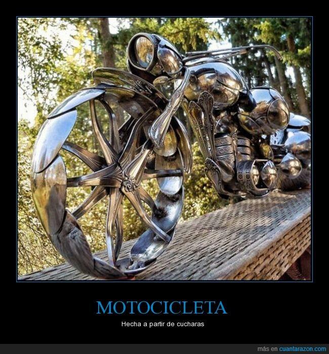 armadura,cucharas,moto