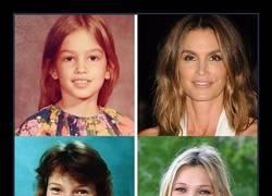 Enlace a Así es cómo eran estas 12 modelos en su infancia
