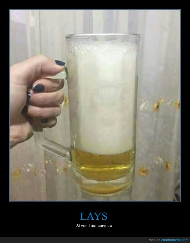 aire,cerveza,espuma,lays,patatas,poco