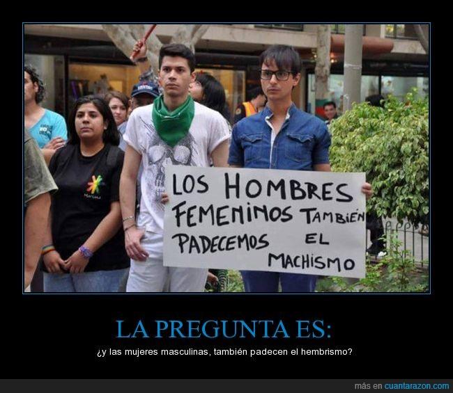 hombres femeninos,protesta