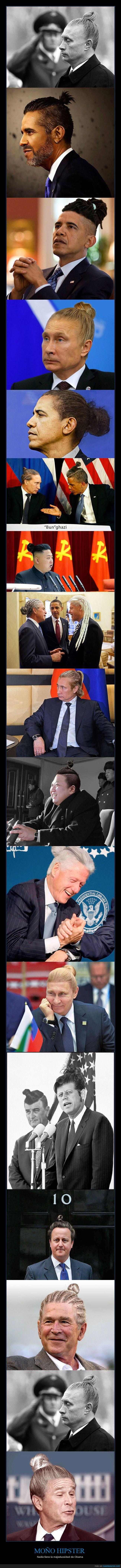hipsters,líderes mundiales,moño,peinado