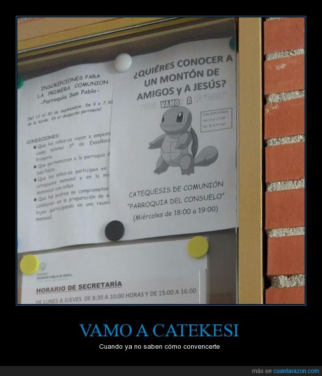 cartel,catequesis,meme,nota,squirtle