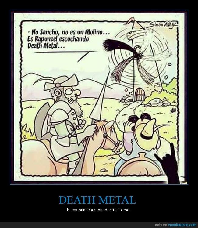 caricaturas,cómic,dibujos,Don Quijote,humor,molino de viento,Rapunzel,Sancho Panza