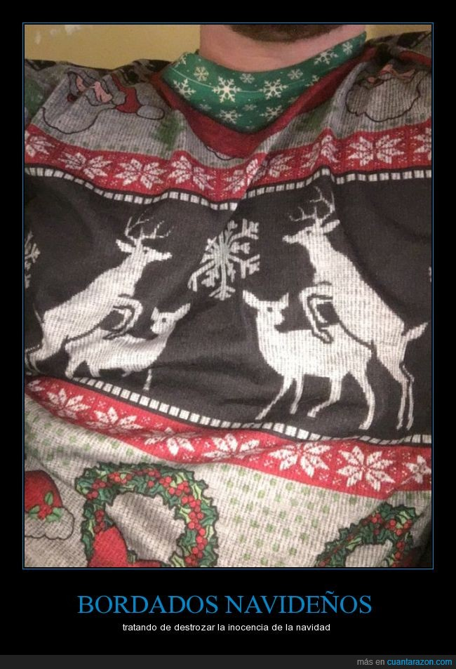 bordado,ciervos,jersey,montándose,navidad,sweater