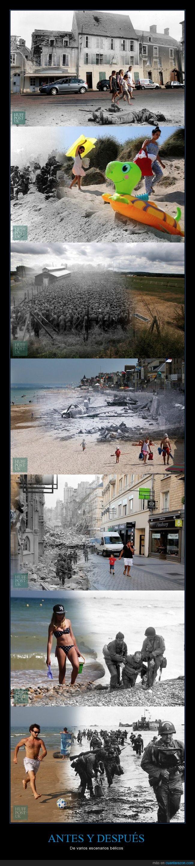 antes,después,fotografías,guerra