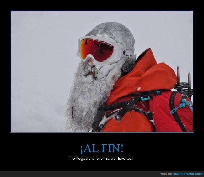 Alpinista,barba,frío