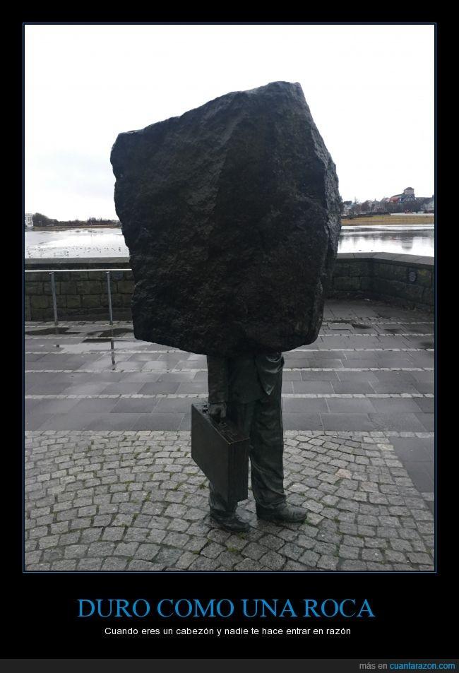 Escultura,hombre,roca