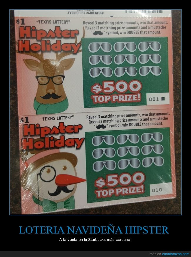 Hipster,lotería,Navidad,renos