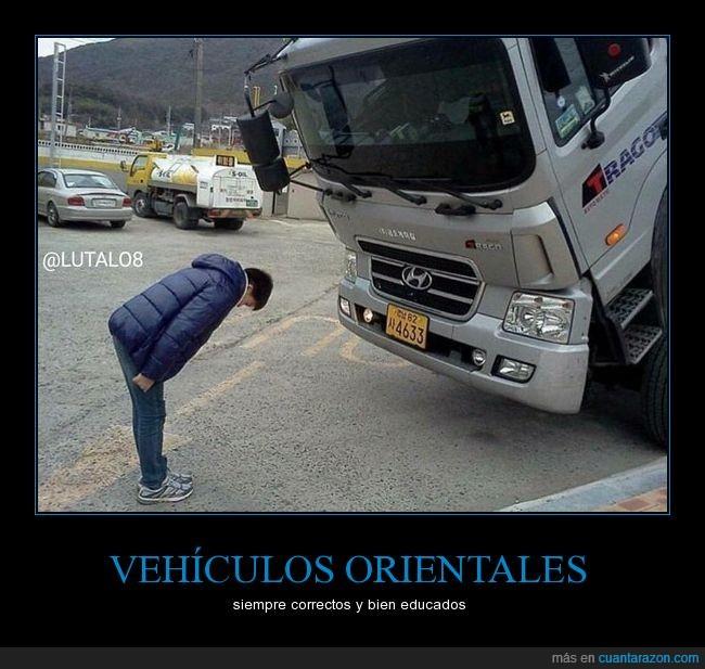 camión,Hyundai,reverencia,saludo