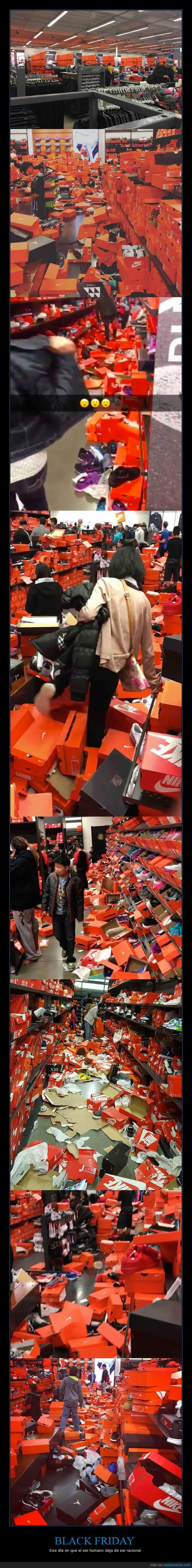 cajas,detrozo,locura,nike,tiendas