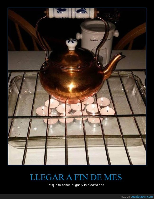 calentar,estufa,parrilla,rejilla,tetera,velas
