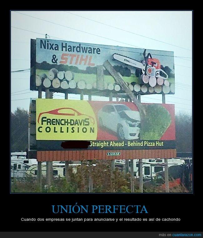 anuncios,aseguradoras,auto,letreros,sierras