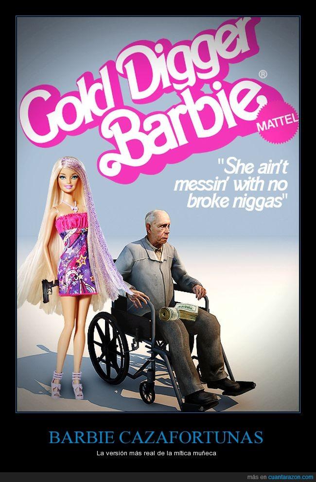 anciano,barbie,dinero,muñeca,viuda