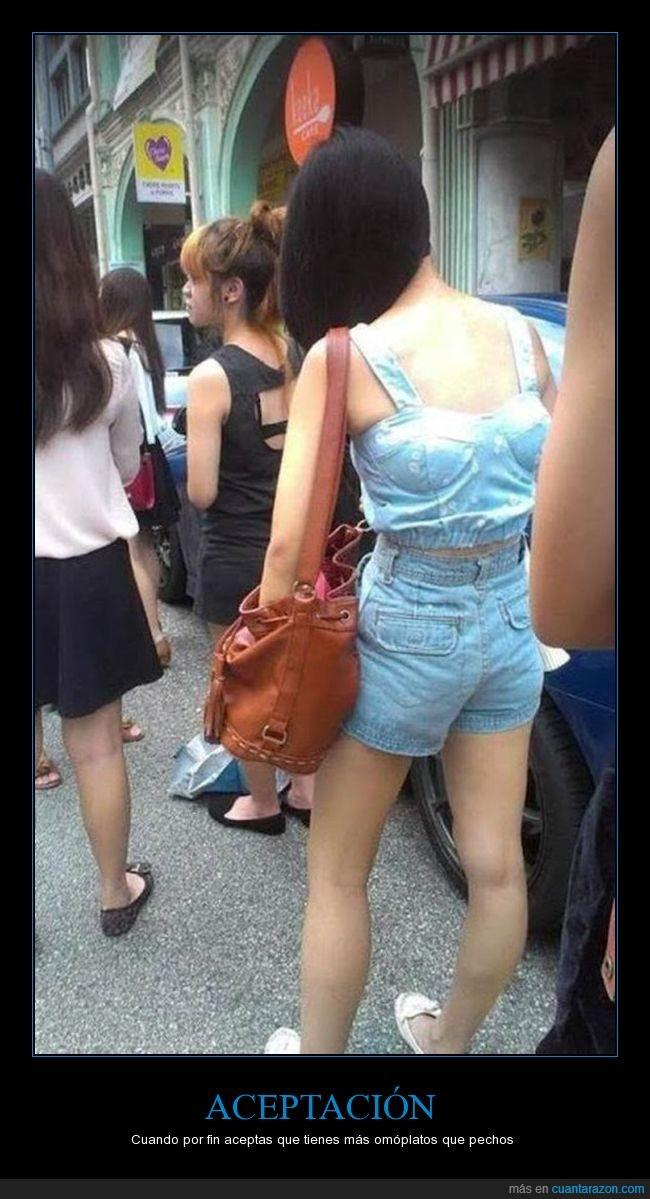 al revés,blusa,chica,sujetador