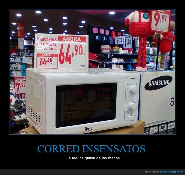 estafa,microondas,precio,supermercado