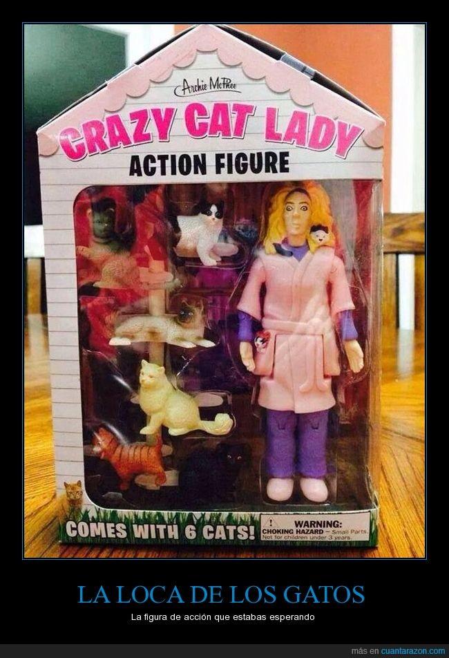 juguete,loca de los gatos,muñeca