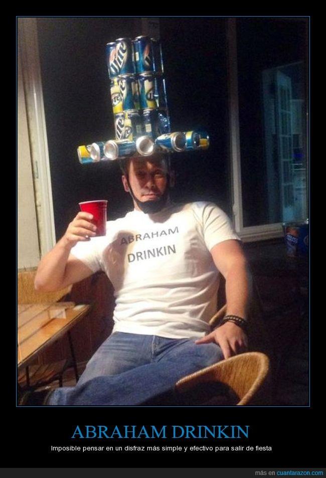 Abraham,cerveza,sombrero