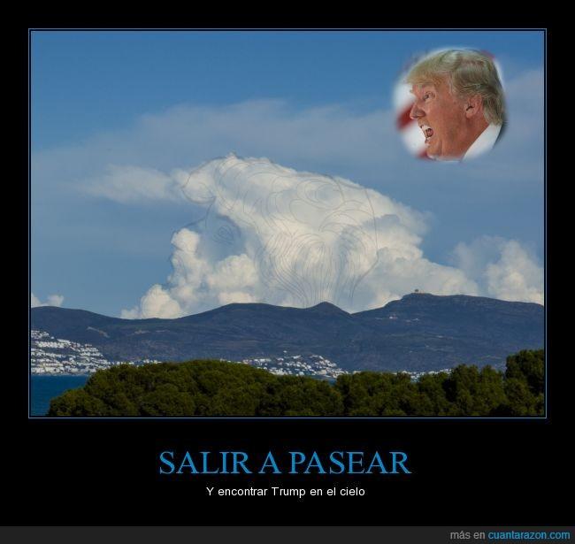 no está retocada,nube,presidente,trump