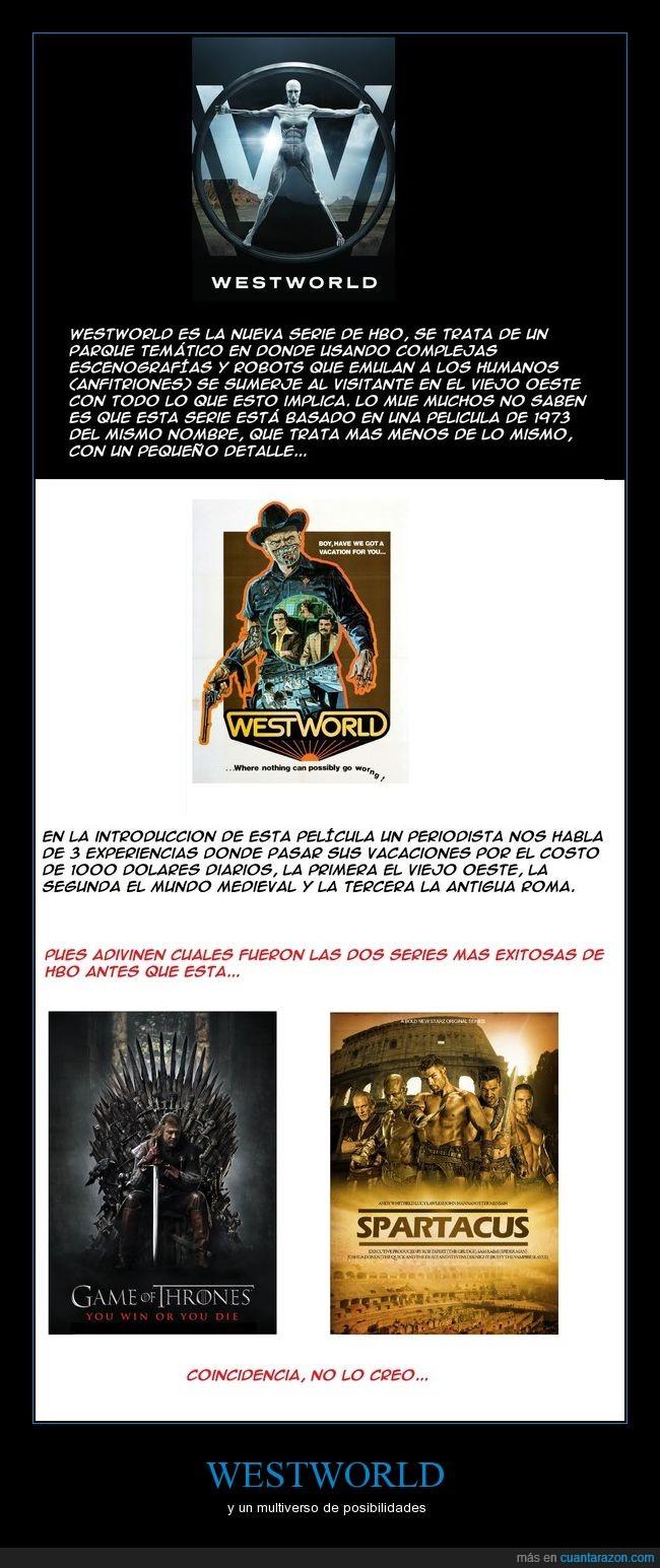 cancion de fuego y hielo,Game of Thrones,juego de tronos,Spartacus,teoria,westworld