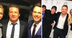 Enlace a Chris Pratt está troleando a Jennifer Lawrence cortándola en todas las fotos que sube a Internet