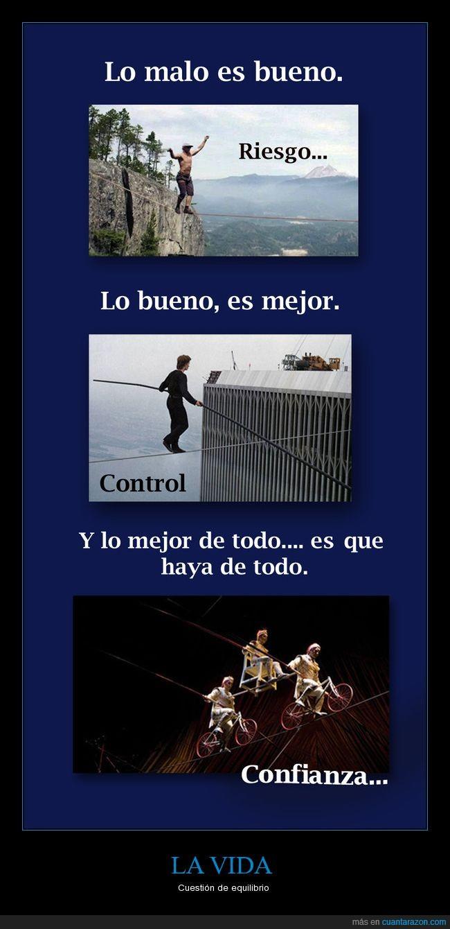 confianza,control,equilibrio,riesgo,vida