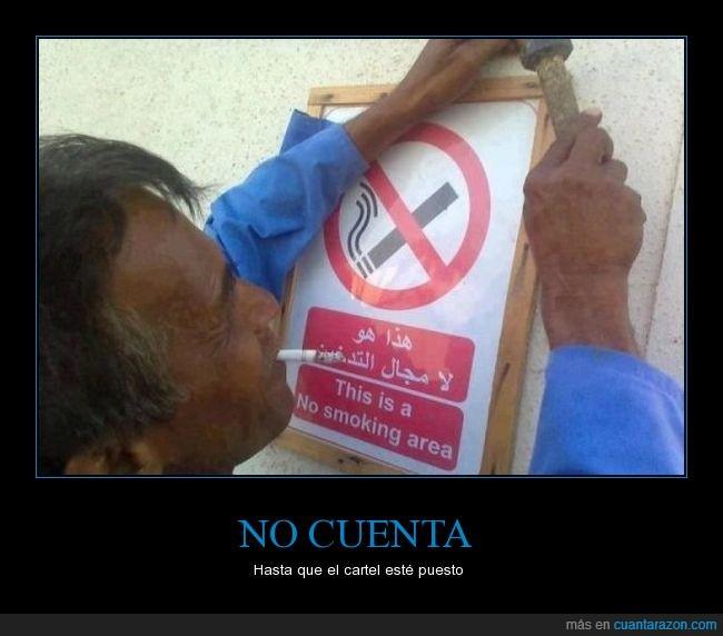 cartel,cigarrillo,fumar,prohibición
